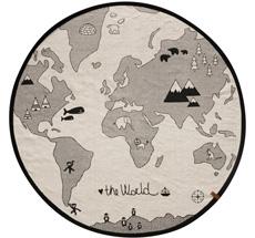 OYOY World Teppich Offwhite / Black