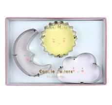 Meri Meri Ausstechformen Sonne Mond Wolke 3er-Set