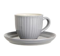 IB LAURSEN Tasse mit Untertasse Mynte French Grey