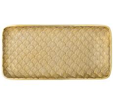 Bloomingville Tablett Gold Leaves 39x20cm