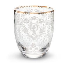 PIP Studio Wasserglas Floral Clear