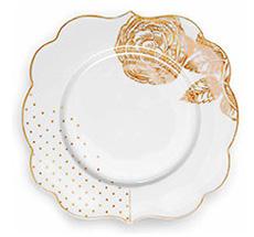 PIP Studio Porzellan Dessertteller Royal White 17 cm
