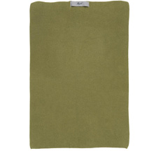 IB LAURSEN Handtuch Mynte Herbal Green gestrickt