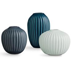 Kähler Design Hammershøi Miniatur Vasen grün 3-teilig