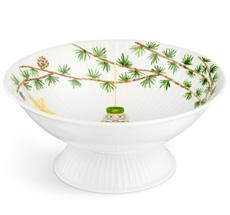 Kähler Design Hammershøi Christmas Schale auf Fuß Ø23 cm weiß mit Dekoration