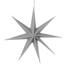 Broste Copenhagen Deko-Stern L Papier Silver