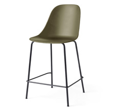 Menu Harbour Stuhl Side Counter Chair Black Steel Base/Olive Shell