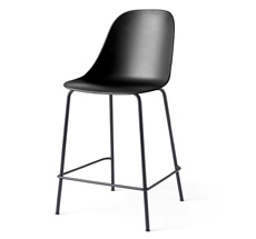 Menu Harbour Stuhl Side Counter Chair Black Steel Base/Black Shell