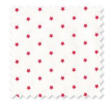 GreenGate Baumwollstoff Small Star White, Restbestand 50 cm
