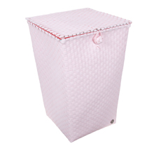 Handed By Wäschekorb mit Deckel Venice Powder Pink