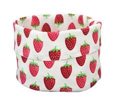 Krasilnikoff Brotkorb Strawberry White