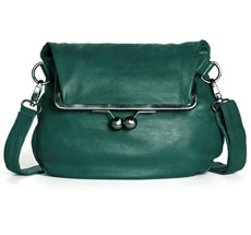 Sticks and Stones Ledertasche Cannes Washed Pine Green