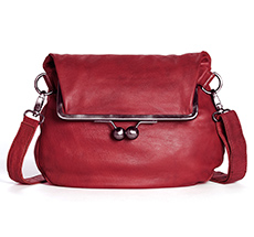 Sticks and Stones Ledertasche Cannes Cherry Red Washed