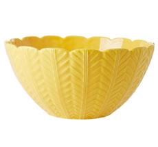 Rice Salatschüssel Keramik Embossed Details Yellow