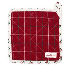 GreenGate Topfuntersetzer Lyla Check Red 2er-Set