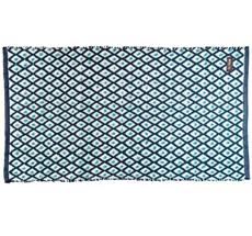 Rice Teppich Kunststoff Dark Grey/Harlequin handgemacht 60 x 120 cm