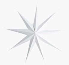 House Doctor Dekostern 9 Spitzen Weiß 87 cm