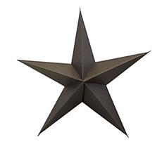 House Doctor Deko-Anhänger Star 5 Spitzen Braun 45 cm