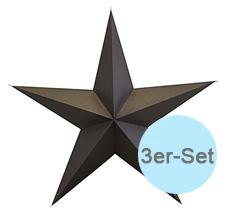 House Doctor Deko-Anhänger Star Braun 3er-Set