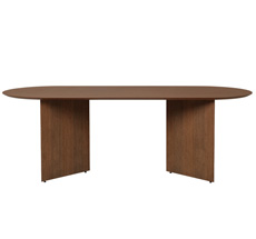 ferm LIVING Tischplatte Mingle Oval 220 cm Walnut Veneer