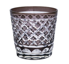 Gate Noir by GreenGate Wasserglas Cross Grey Crystal Medium