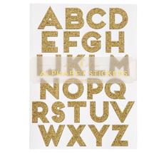 Meri Meri Sticker Gold Glitter Alphabet 10 Bögen