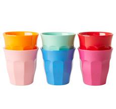 Rice Melamin Becher Choose Happy Colors 6er-Set