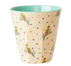 Rice Melamin Becher Budgie Two Tone