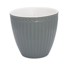 GreenGate Latte Cup Becher Alice Stone Grey