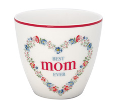 GreenGate Latte Cup Becher Mom White