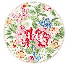 GreenGate Teller Emmaline White 20,5 cm