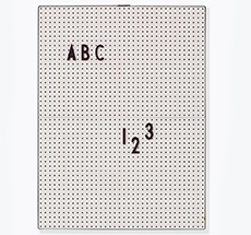 Design Letters Pinnwand Message Board A4 Grey