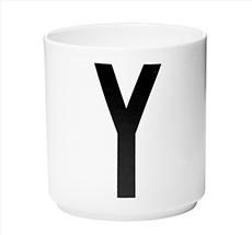 Design Letters Porzellan Becher Y