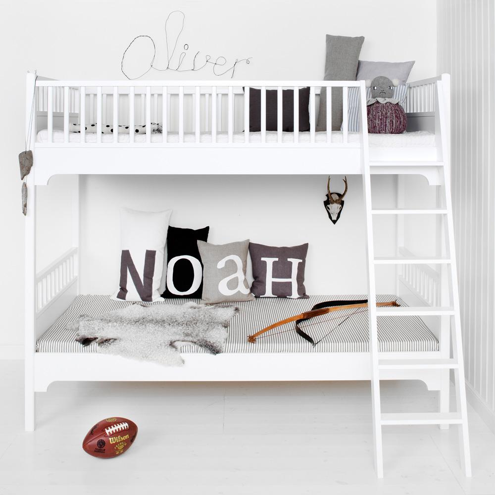 Oliver Furniture Etagenbett Seaside Weiß Mit Schräger Leiter