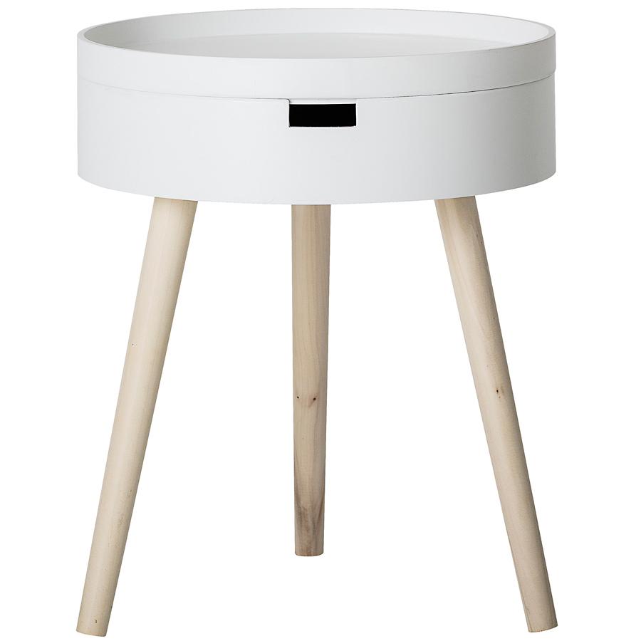 bloomingville beistelltisch white online kaufen emil paula. Black Bedroom Furniture Sets. Home Design Ideas