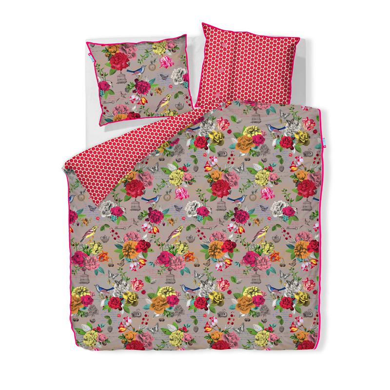 pip studio bettw sche flowers khaki online kaufen emil paula. Black Bedroom Furniture Sets. Home Design Ideas