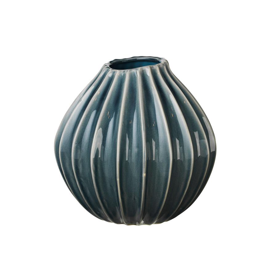 Broste Copenhagen Vase Wide Blue Mirage M