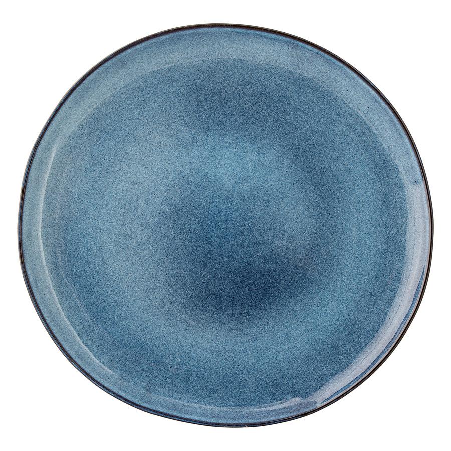 bloomingville porzellan teller sandrine blue 28cm online kaufen emil paula. Black Bedroom Furniture Sets. Home Design Ideas