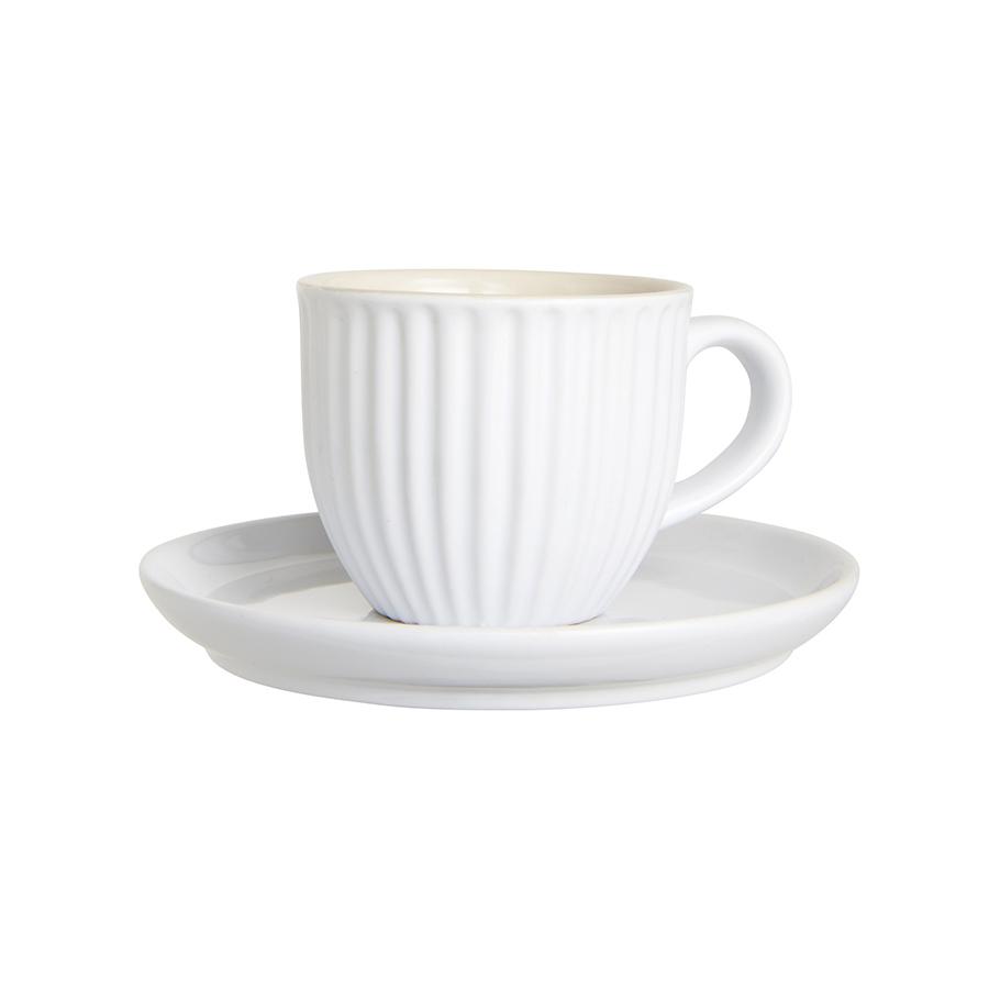 ib laursen tasse mit untertasse mynte pure white online. Black Bedroom Furniture Sets. Home Design Ideas