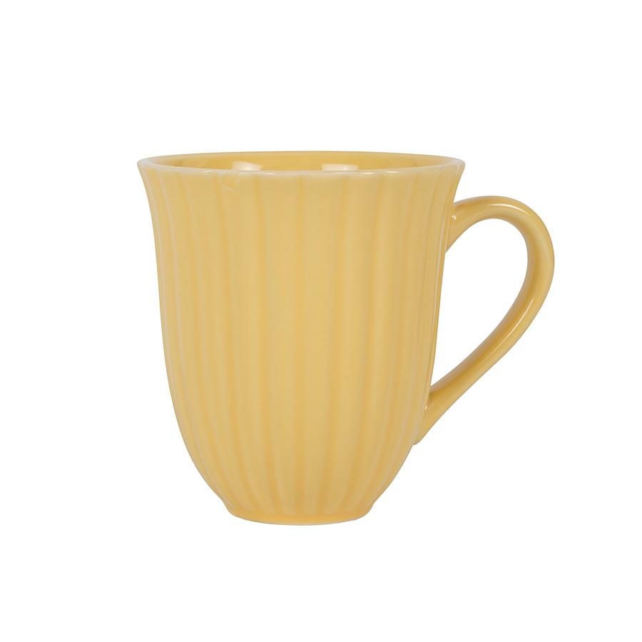 ib laursen tasse mit rillen mynte lemon zest online kaufen. Black Bedroom Furniture Sets. Home Design Ideas
