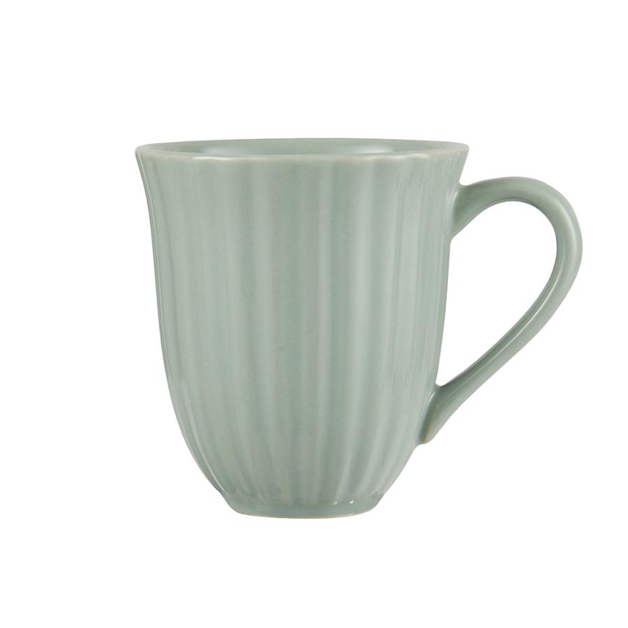 ib laursen tasse mit rillen mynte green tea online kaufen. Black Bedroom Furniture Sets. Home Design Ideas
