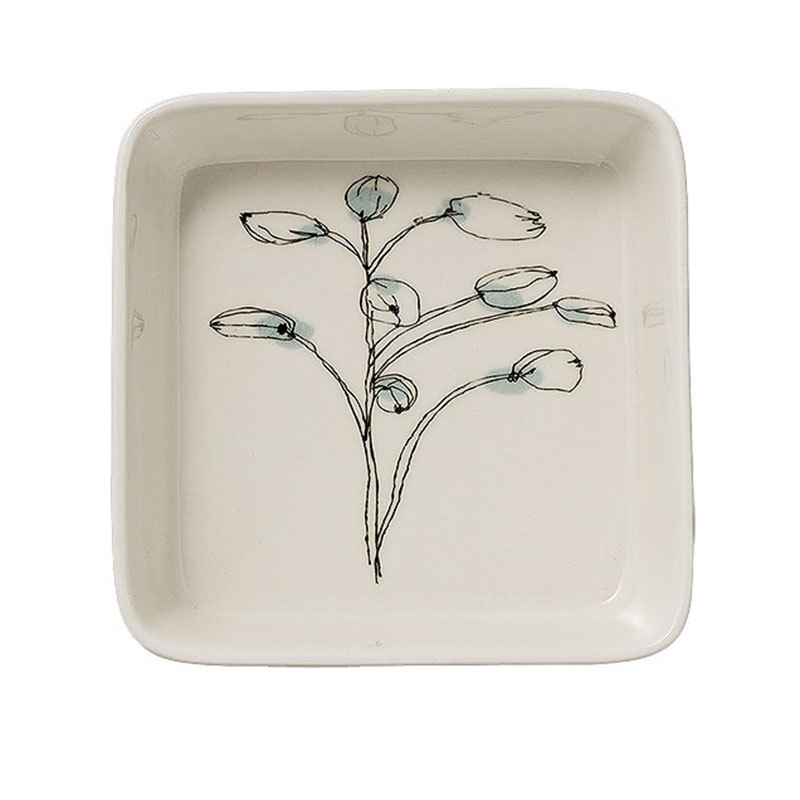 bloomingville tablett quadratisch flower online kaufen emil paula. Black Bedroom Furniture Sets. Home Design Ideas