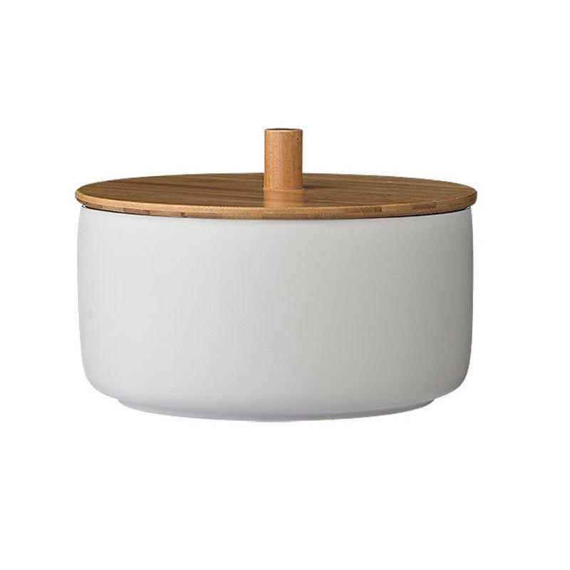 bloomingville sch ssel caroline mit bambus deckel wei. Black Bedroom Furniture Sets. Home Design Ideas