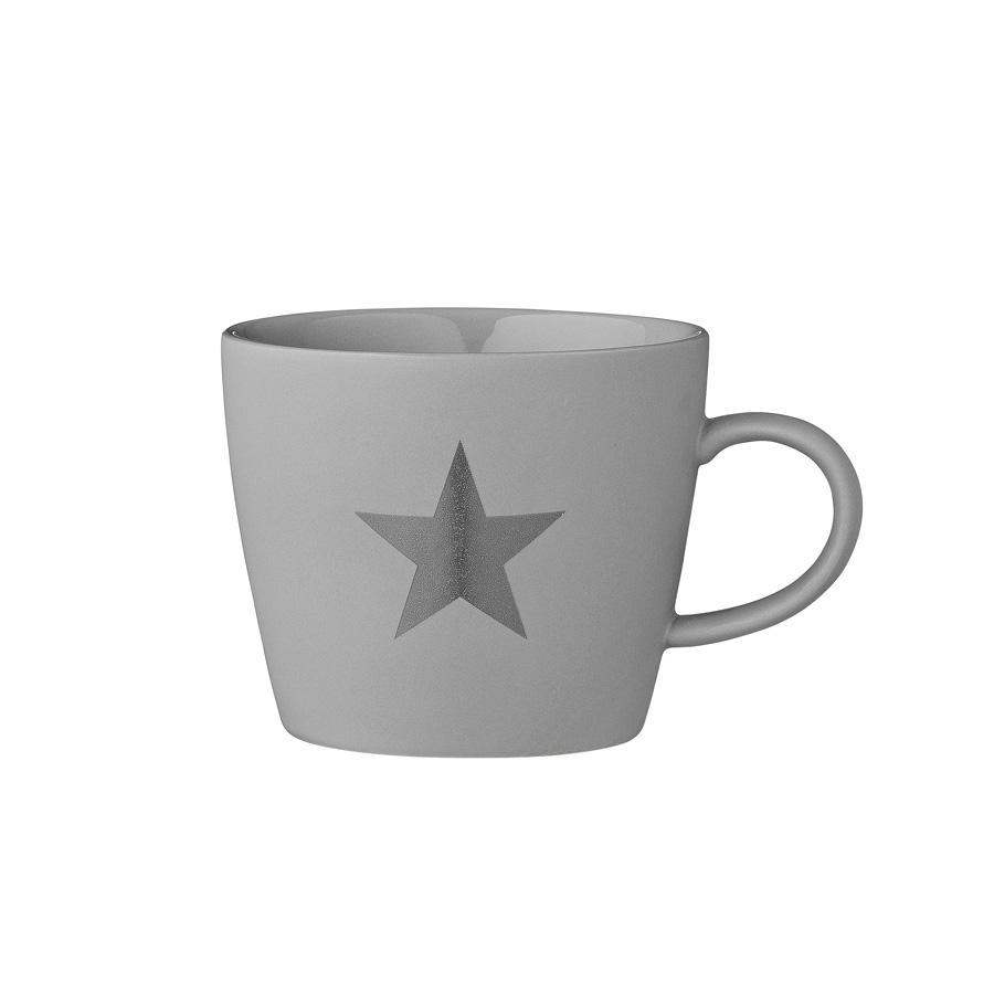 bloomingville tasse mit henkel star dark grey online. Black Bedroom Furniture Sets. Home Design Ideas