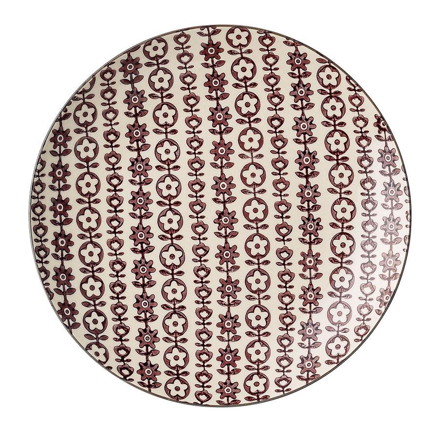 bloomingville porzellan teller karine 20 cm lila blumenranke online kaufen emil paula. Black Bedroom Furniture Sets. Home Design Ideas