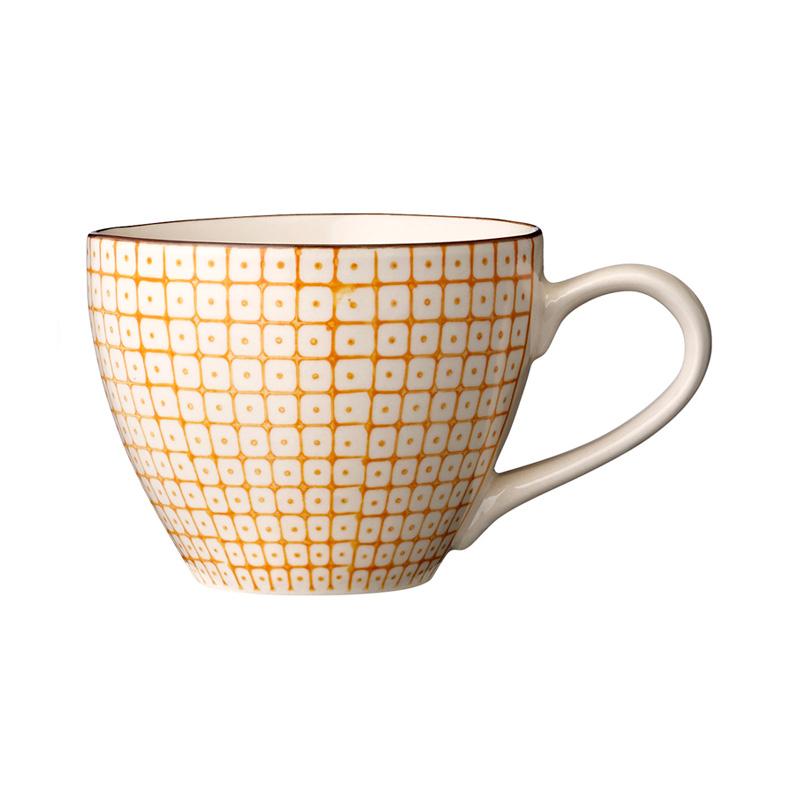bloomingville porzellan tasse mit henkel carla orange. Black Bedroom Furniture Sets. Home Design Ideas