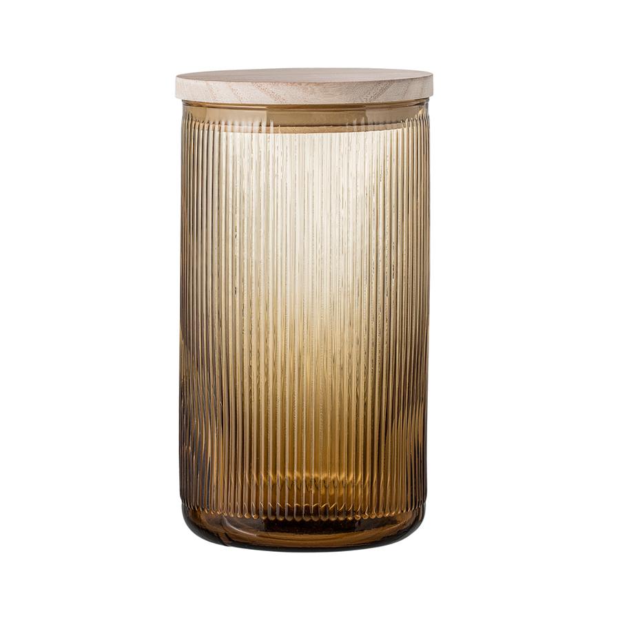 bloomingville gro es aufbewahrungsglas mit deckel brown online kaufen emil paula. Black Bedroom Furniture Sets. Home Design Ideas