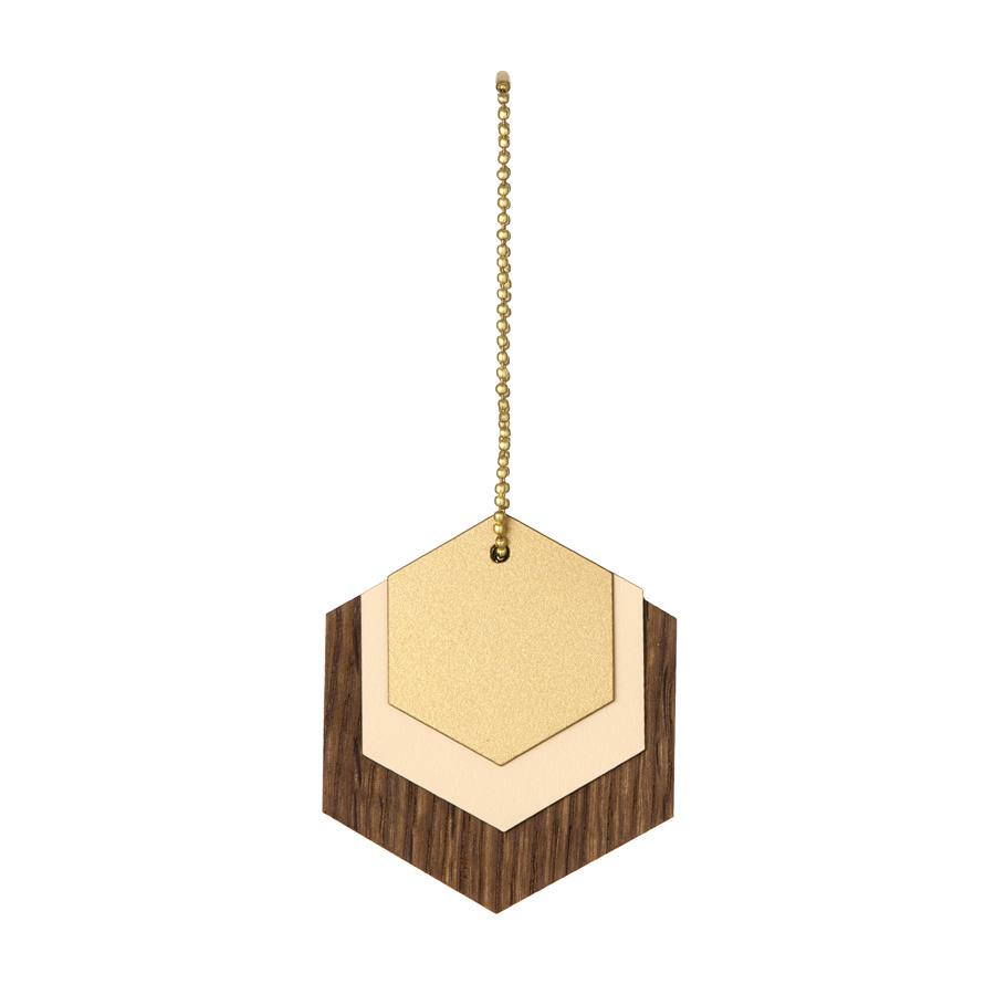 ferm living dekoanh nger aus holz hexagon online kaufen. Black Bedroom Furniture Sets. Home Design Ideas