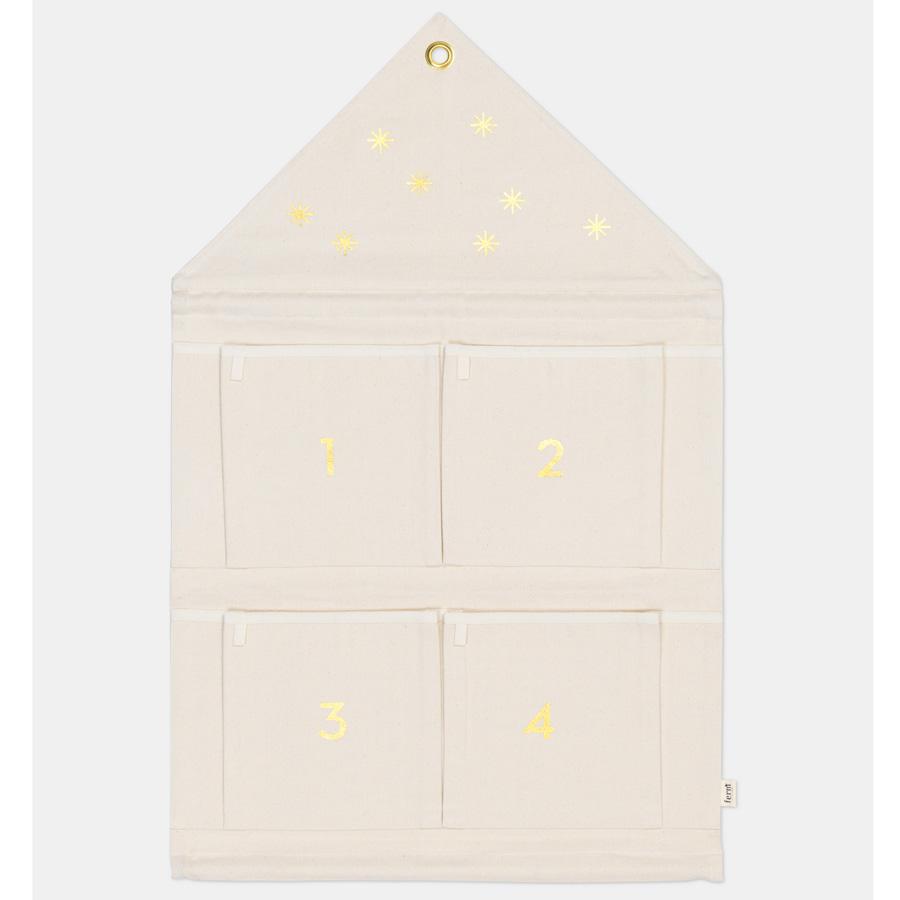 ferm living adventskalender house off white online kaufen emil paula. Black Bedroom Furniture Sets. Home Design Ideas