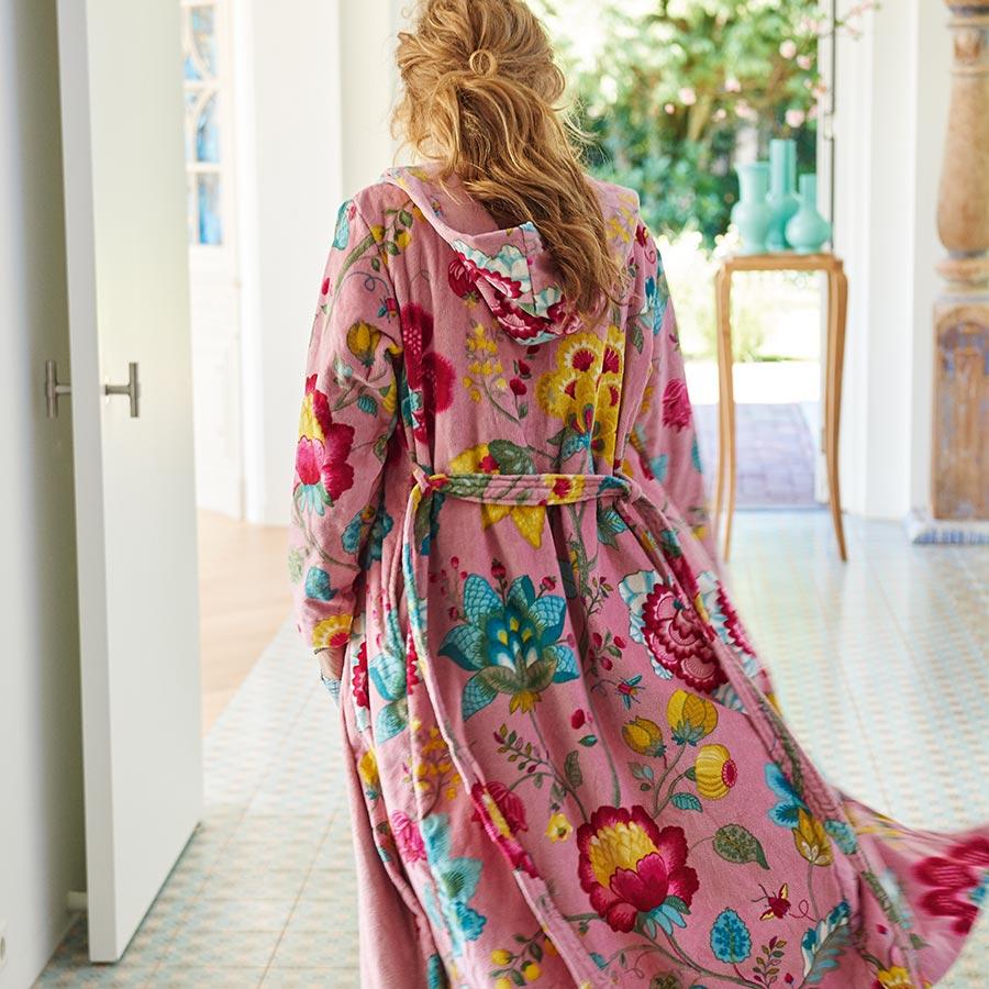 pip studio bademantel floral fantasy pink online kaufen emil paula. Black Bedroom Furniture Sets. Home Design Ideas